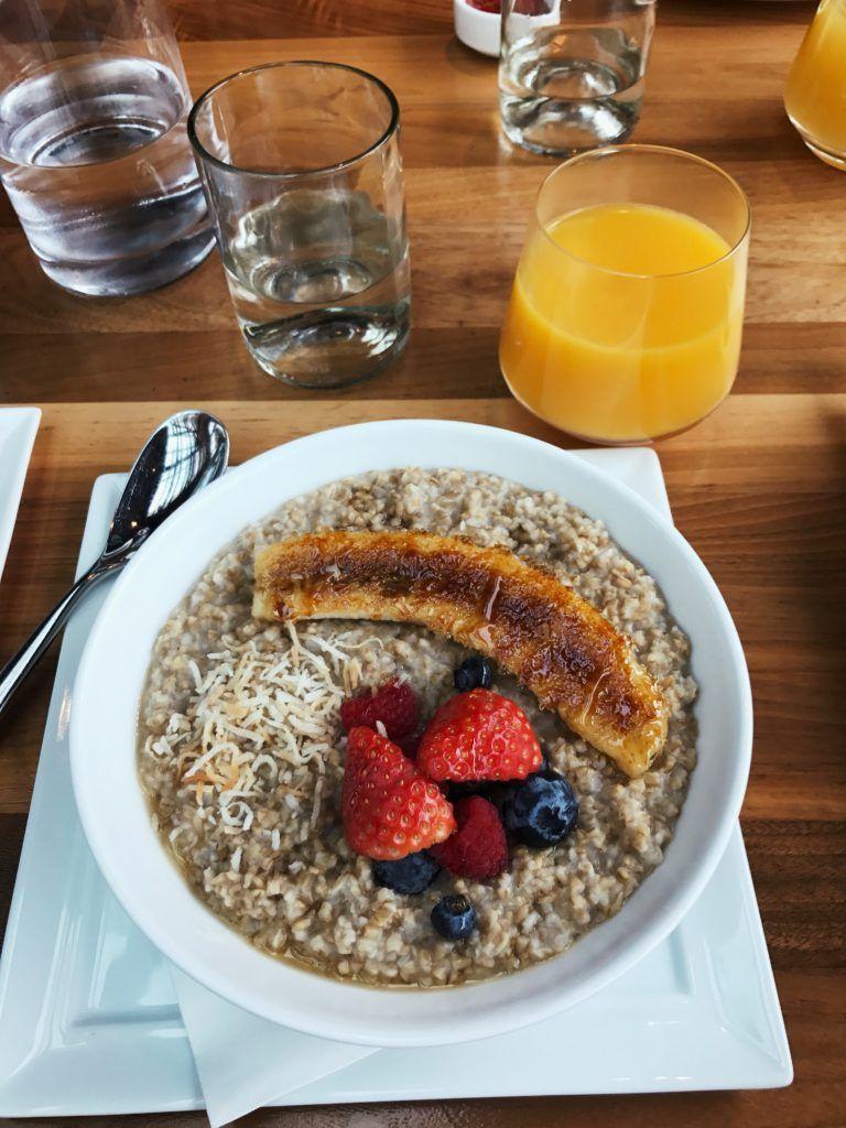 Four Seasons Aviara Delicious Oatmeal Breakfast