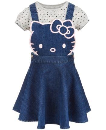 11250edec Hello Kitty Toddler Girls 2-Pc. Denim Skirtall & T-Shirt Set in 2019 ...