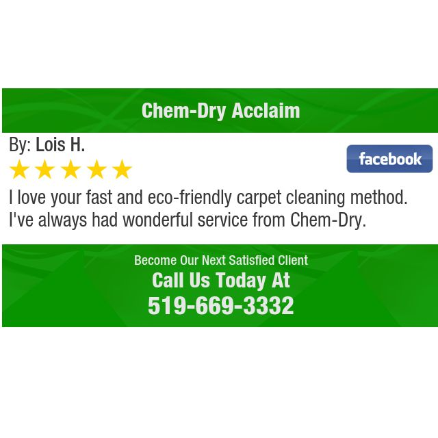 I love your fast and eco-friendly carpet cleaning method. I've always had wonderful...