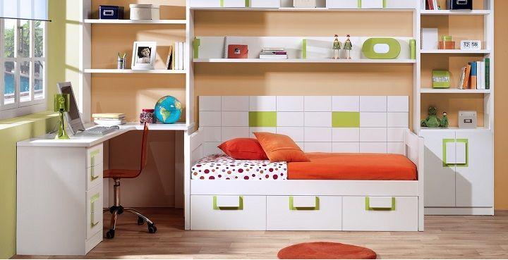 Cómo decorar habitaciones infantiles pequeñas RECAMARAS PEQUEÑAS