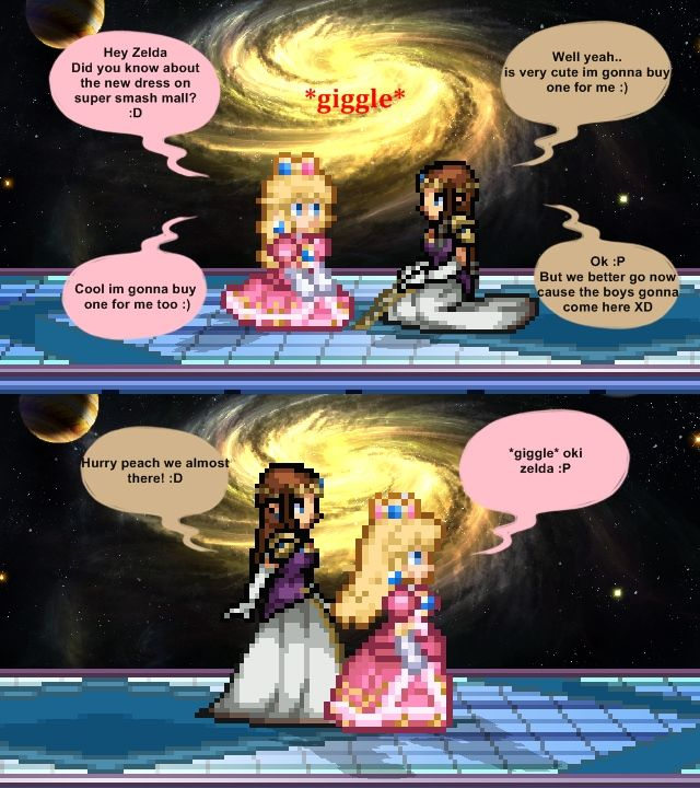 Zelda And Peach Comic!!!!!!!!!