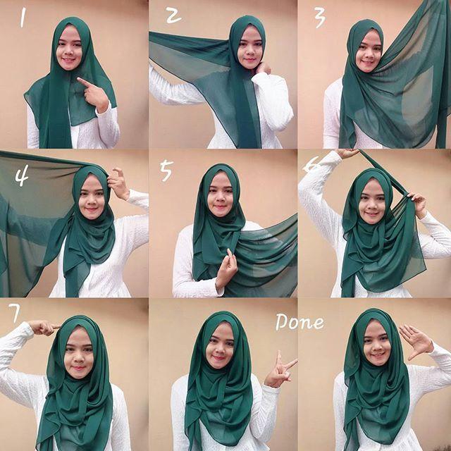Easy Chest Coverage Hijab Tutorial Hijab Style Tutorial Hijab