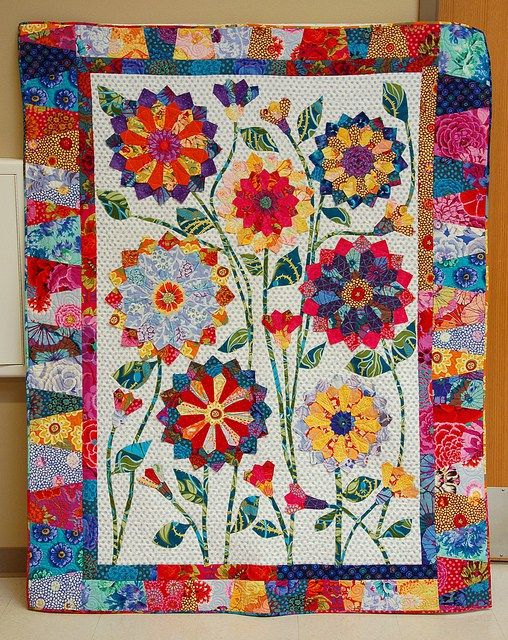 Dresden Garden Party Quilt Pattern Free Patchwork Applique