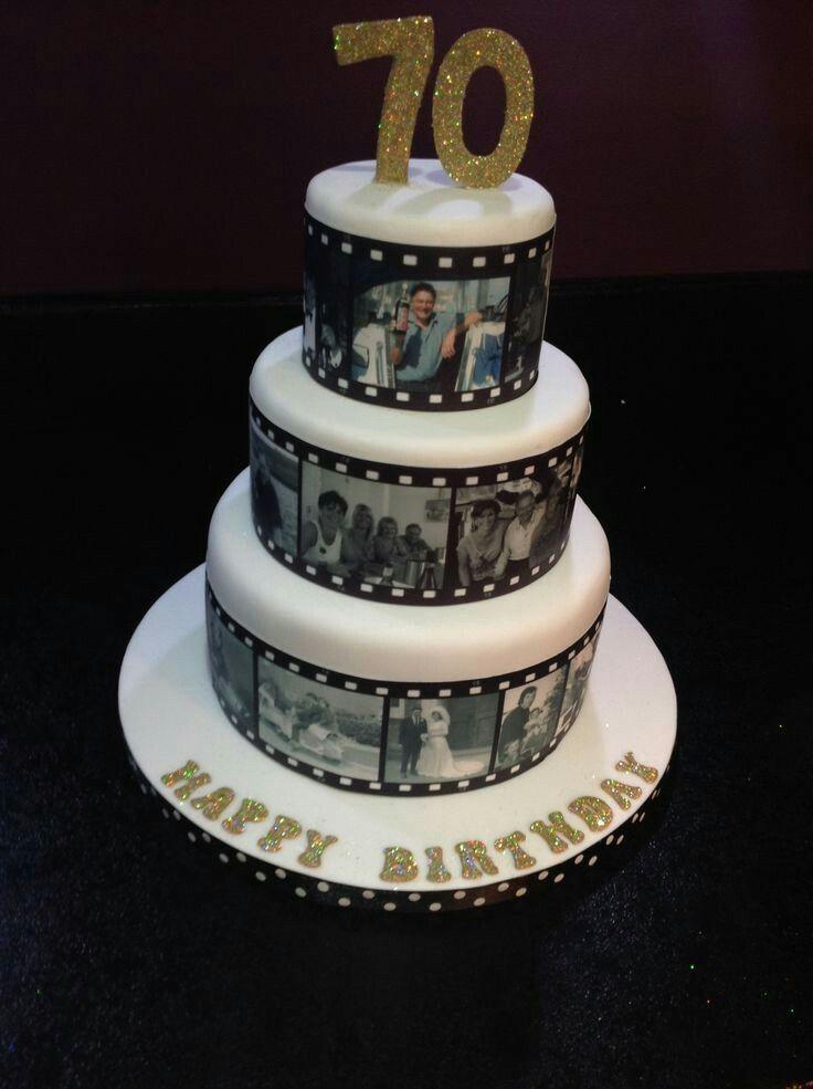 Dad Birthday Cakes 70th Parties 75th Ideas Cake