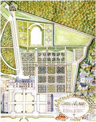 Villandry Garden Plan G A R D E N S Garden Landscape Design