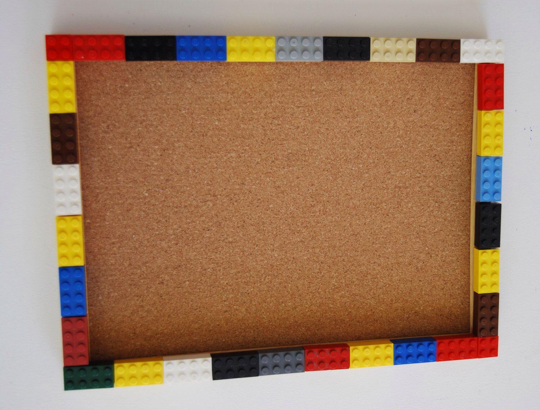 "Lego®, 12""X9"" CORKBOARD, Lego® FrAME, Lego® PiCTURE, Lego® PhOTO, Lego® BiRTHDAY, Lego® BuLLETIN BoARD, Lego® GiFT, Legos® FoR KiDS, Legos® by HappyBarnGifts on Etsy https://www.etsy.com/listing/203642765/lego-12x9-corkboard-lego-frame-lego"