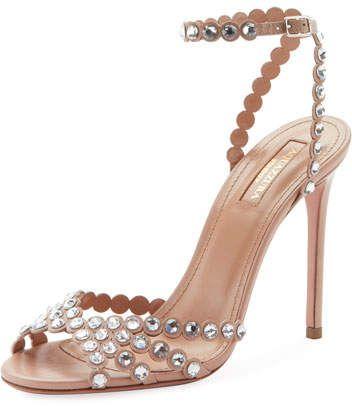 Aquazzura Tequila Embellished High Sandals #highsandals