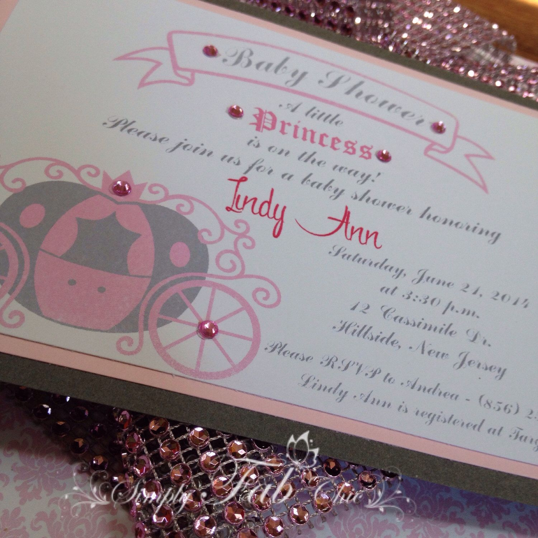 Princess Birthday Baby Shower Babyshower Invitation carousel invite ...