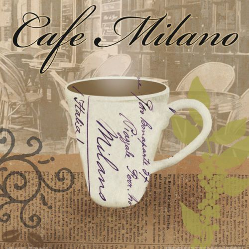 Lisa Van Verthloh Cafe Milano Fertig Bild 30x30 Wandbild Kueche Cafe