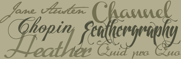 Calligraphic Types #typography #free #fonts