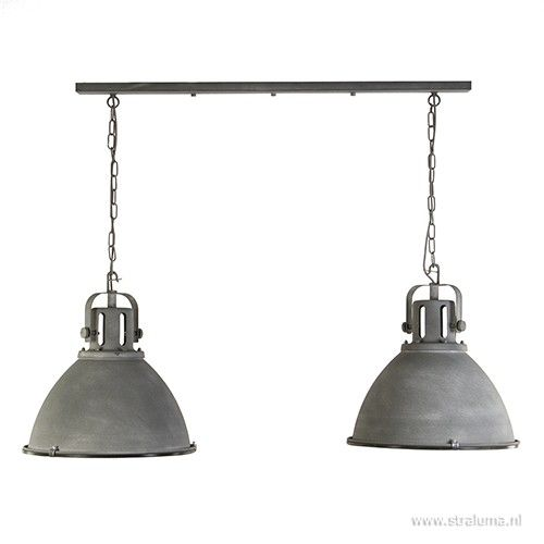 Perfect industrile hanglamp betonlook lichts with staande for Staande lamp betonlook