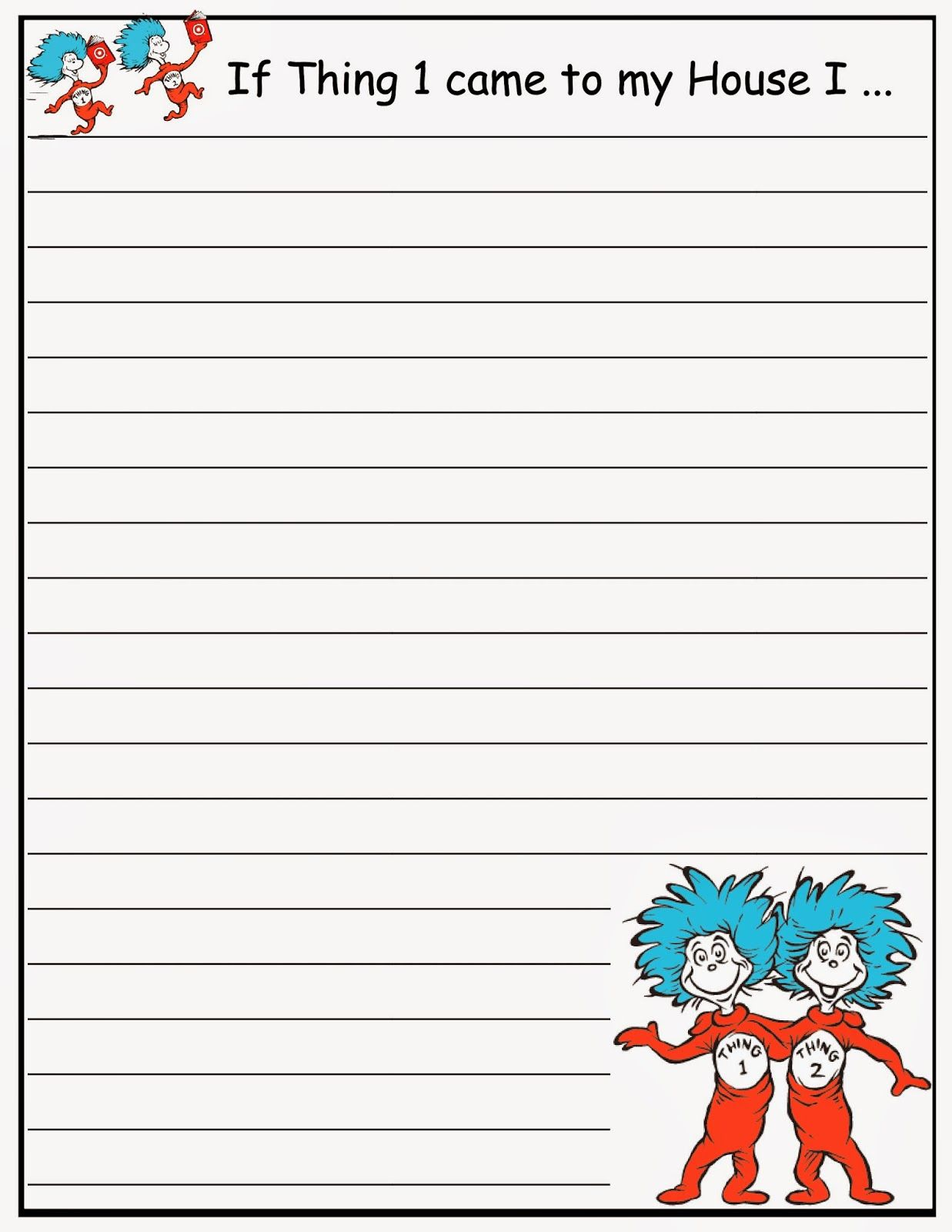 Scrap N Teach Dr Seuss Writing Papers Free Dr Seuss Activities Seuss Classroom Dr Seuss Classroom