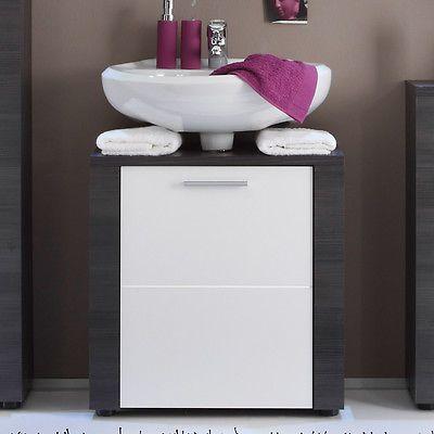 Waschbeckenunterschrank grau - weiß Badezimmer Unterschrank ...