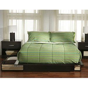 South Shore SoHo Full/Queen Storage Platform Bed with Choice of Accent Furnishings, Chocolate