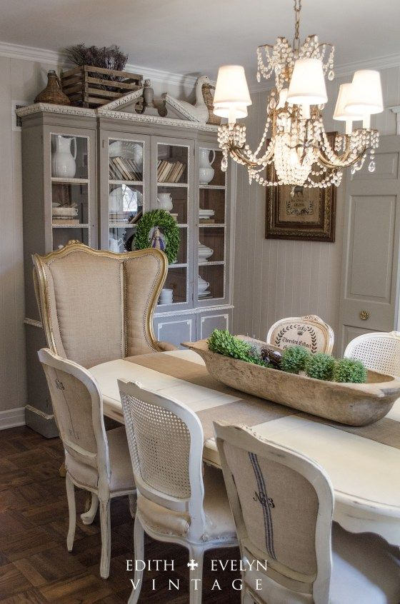 Transformation  Dining Room Edith & Evelyn Vintage  Country Gorgeous Country Style Dining Rooms Decorating Inspiration