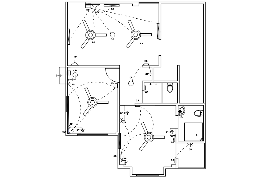 House Electrical Plan In AutoCAD File in 2020 (With images