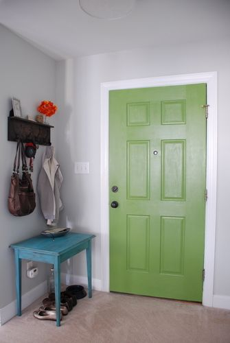 Paint The Inside Of You Door A Bright Color   Love This. #diy #