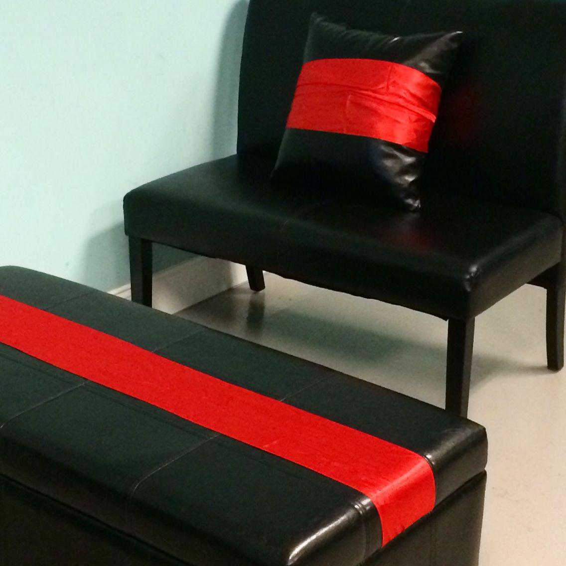 Wrap fabric around a basic furniture piece to being it to life.
