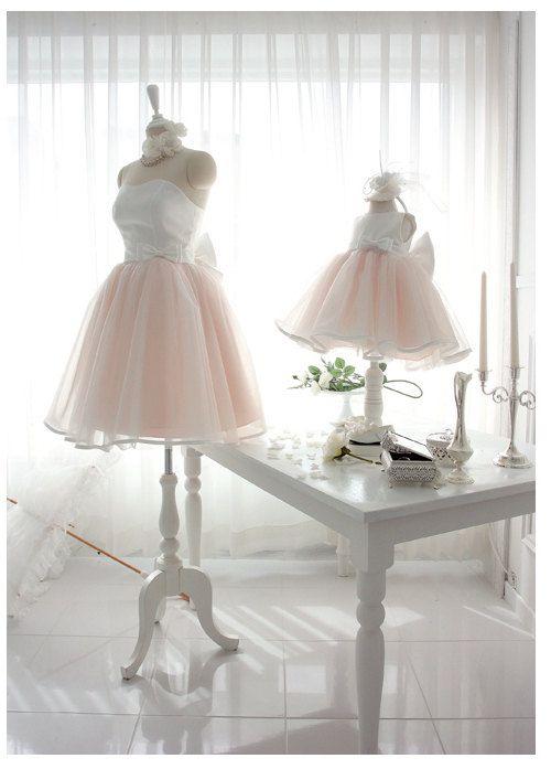 Pinky Princess Mom and Daughter Matching Dress