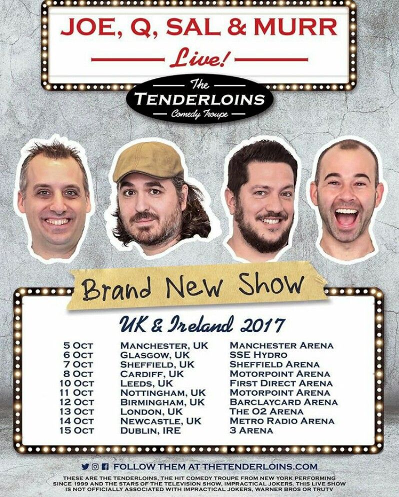 The Tenderloins Are International B Tches Impractical Jokers New Shows Tour Posters