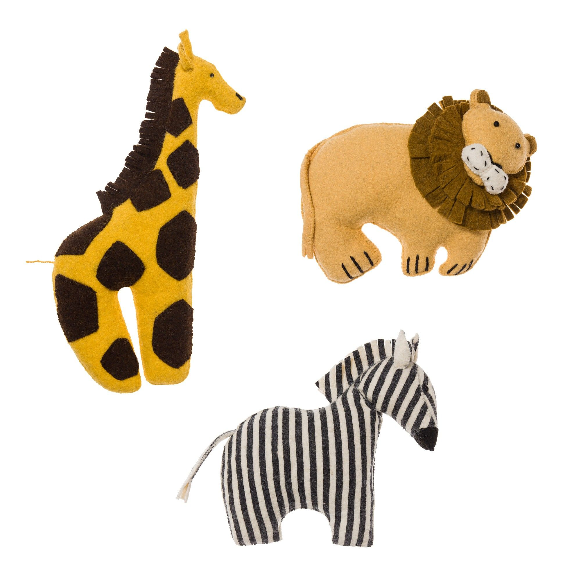 Kinder Kissen Kinder Kissen Singoli Animal Cushions Giraffe And Wool Felt