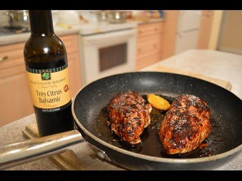 How to Cook Napa Valley Tres Citrus Balsamic Chicken Breasts: Cooking with Kimberly - YouTube