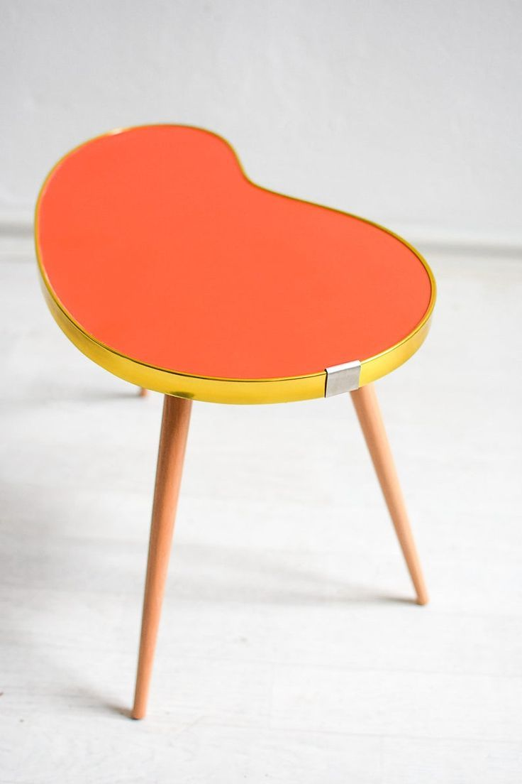 Indoor plant stand, red plant stool, red kidney table ...