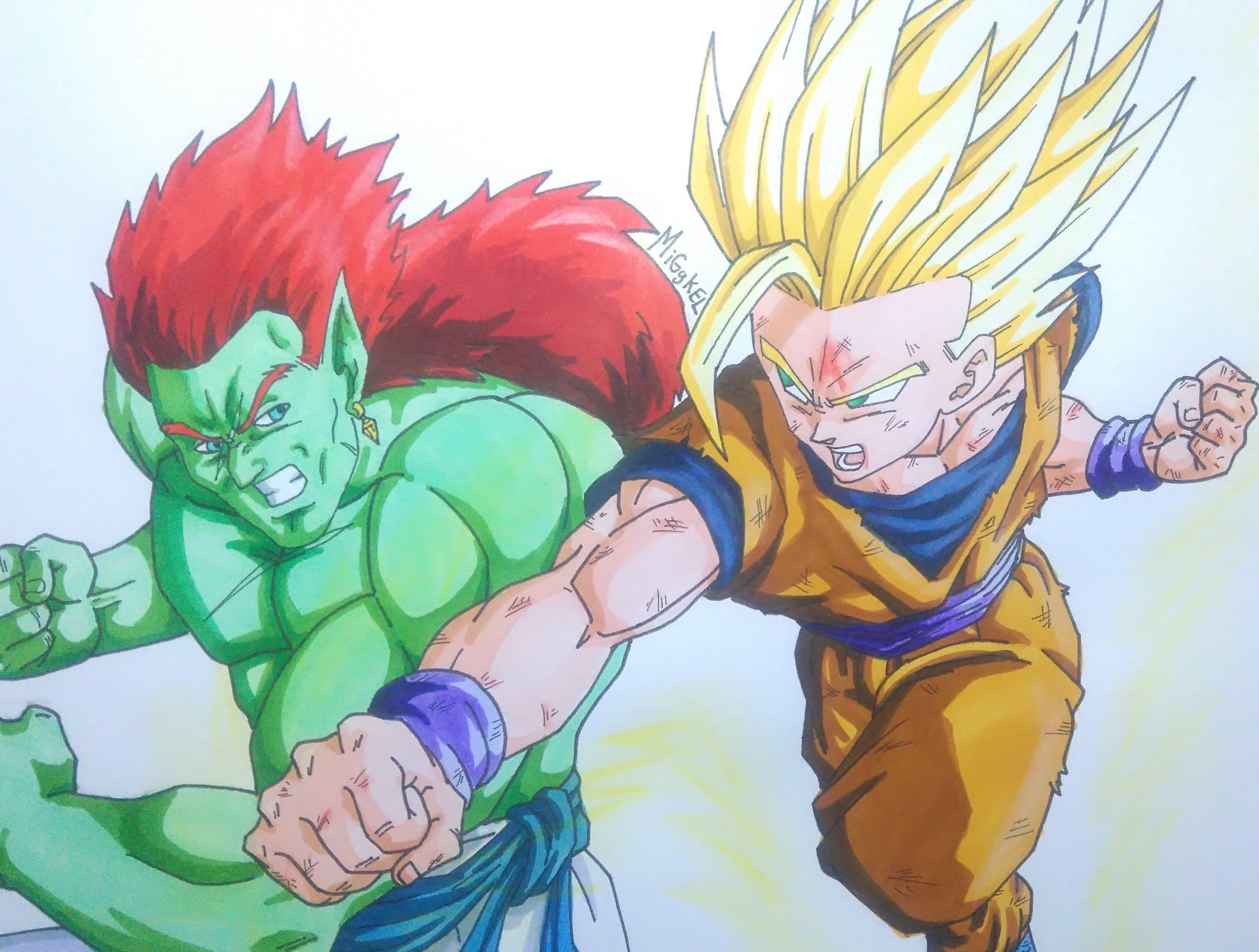 como dibujar a GOHAN vs BOJACK. How to draw Son GOHAN vs ...  Gohan Ssj2 Vs Bojack