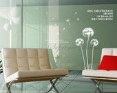 White huge dandelion for closet doors