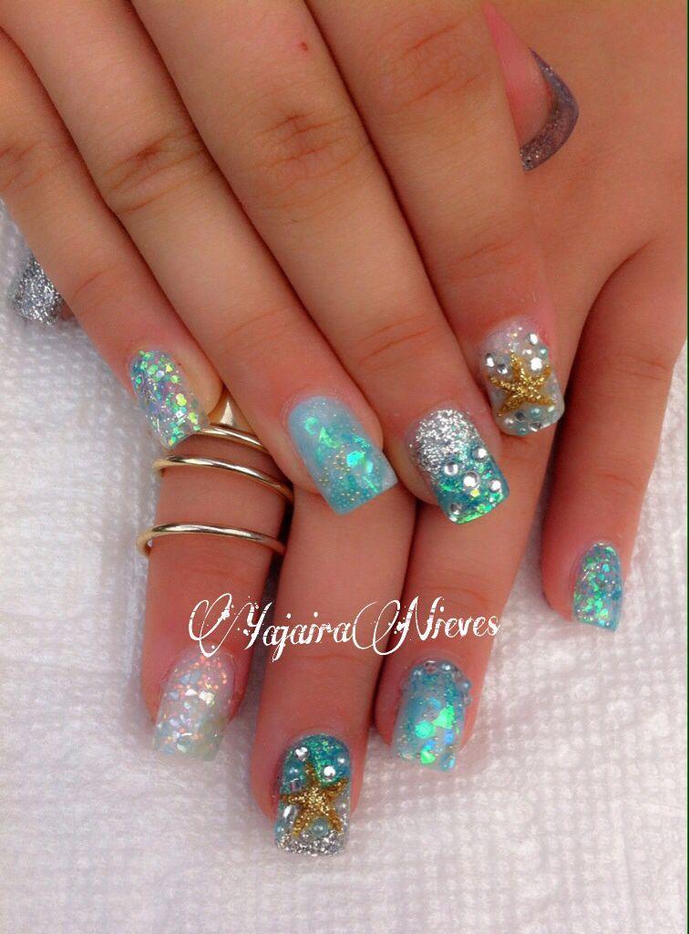 Under The Sea Theme Nails Love Starfish
