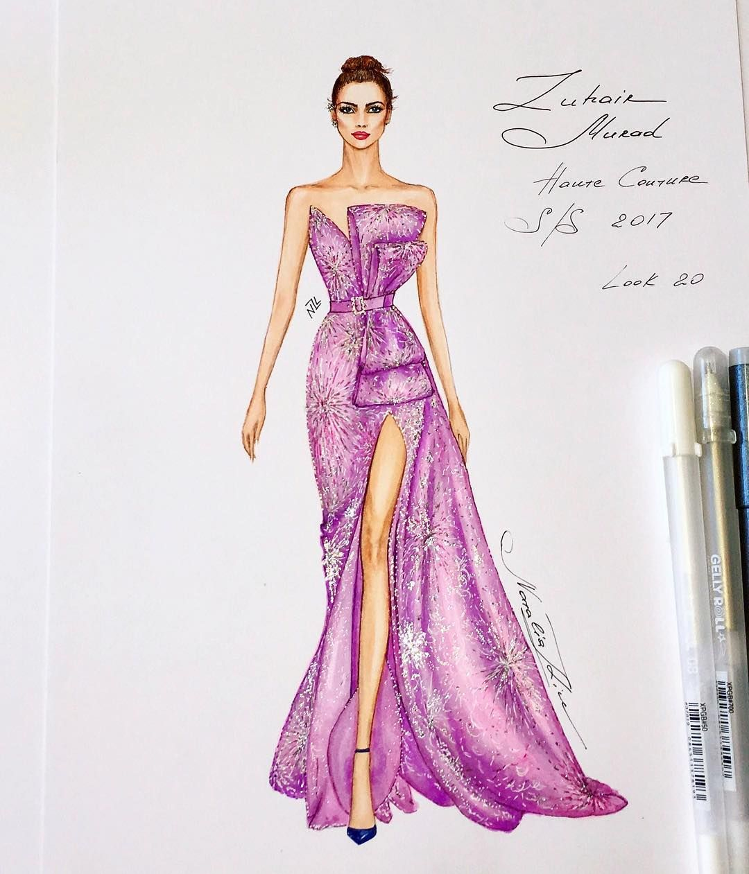 856 Likes 6 Comments Nataliaz Liu Nataliazorinliu On Instagram Fashion Illustration Dresses Fashion Illustration Sketches Dresses Fashion Design Sketches