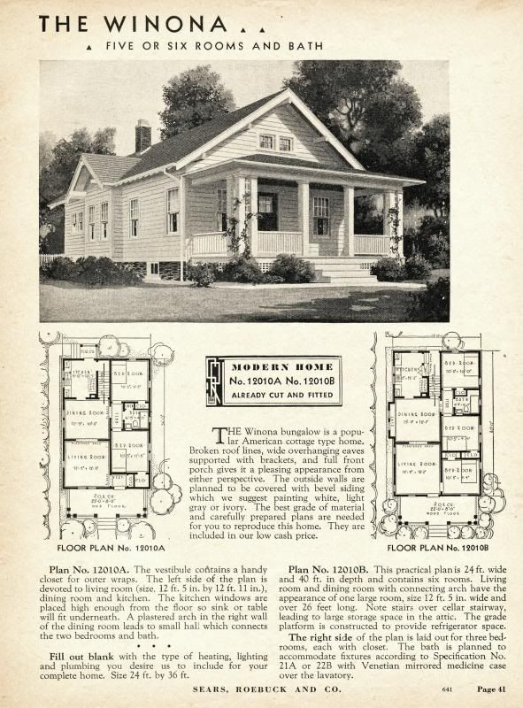 Wardway Sears Modern Homes Vintage House Plans Craftsman House Plans Bungalow House Plans