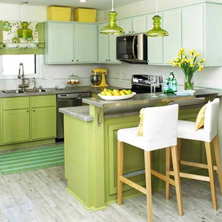 Green Apple Kitchen Design And Decoration Theme White And Green Kitchen Paint Colors Kitchen Remodel Small Kitchen Design Small Small Kitchen Makeovers