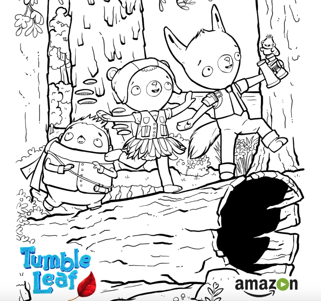 Tumble Leaf Amazon Original Series Leaf Coloring Page Arts And Crafts For Kids Crafty Kids