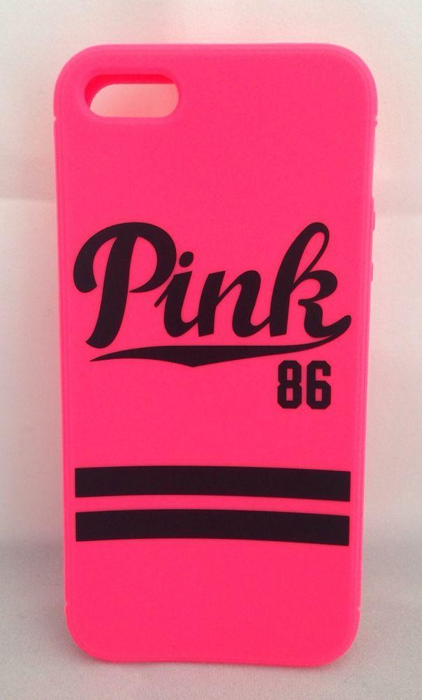 buy popular d88ea 9abd9 Victoria's Secret Apple iPhone 5 5S Case Phone Cover PINK 86 NEW ...