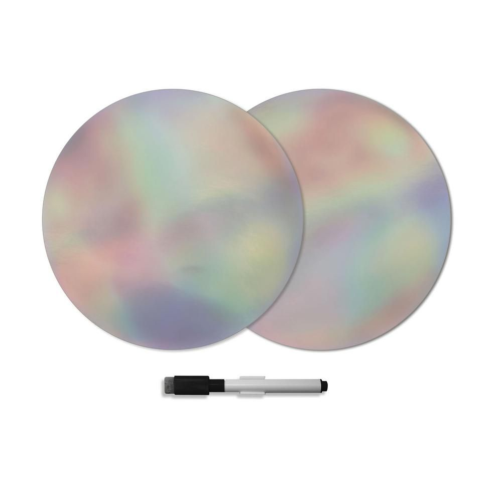 Wall Pops Prism Dry Erase Dots Wall Decals Set Of 2 Twpe2821