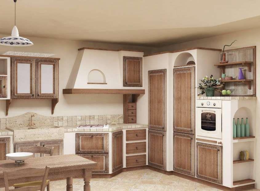 Cucine in muratura - Cucina in muratura decapata | Kitchen ...
