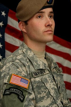 Batory, pictured during his time as a special operations medic, assigned to the U.S. Army's 1st Ranger Battalion, 75th Ranger Regiment. Bato...