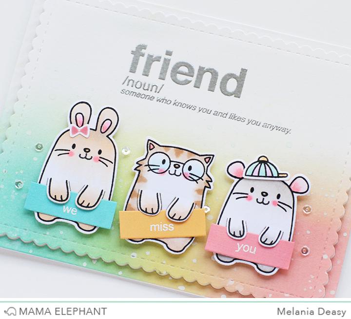 Mama Elephant Stamp Highlight Words Defined   animal