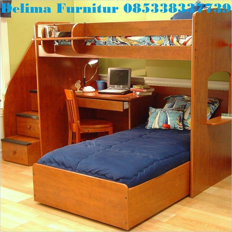 Tempat Tidur Tingkat Bawahnya Meja Belajar