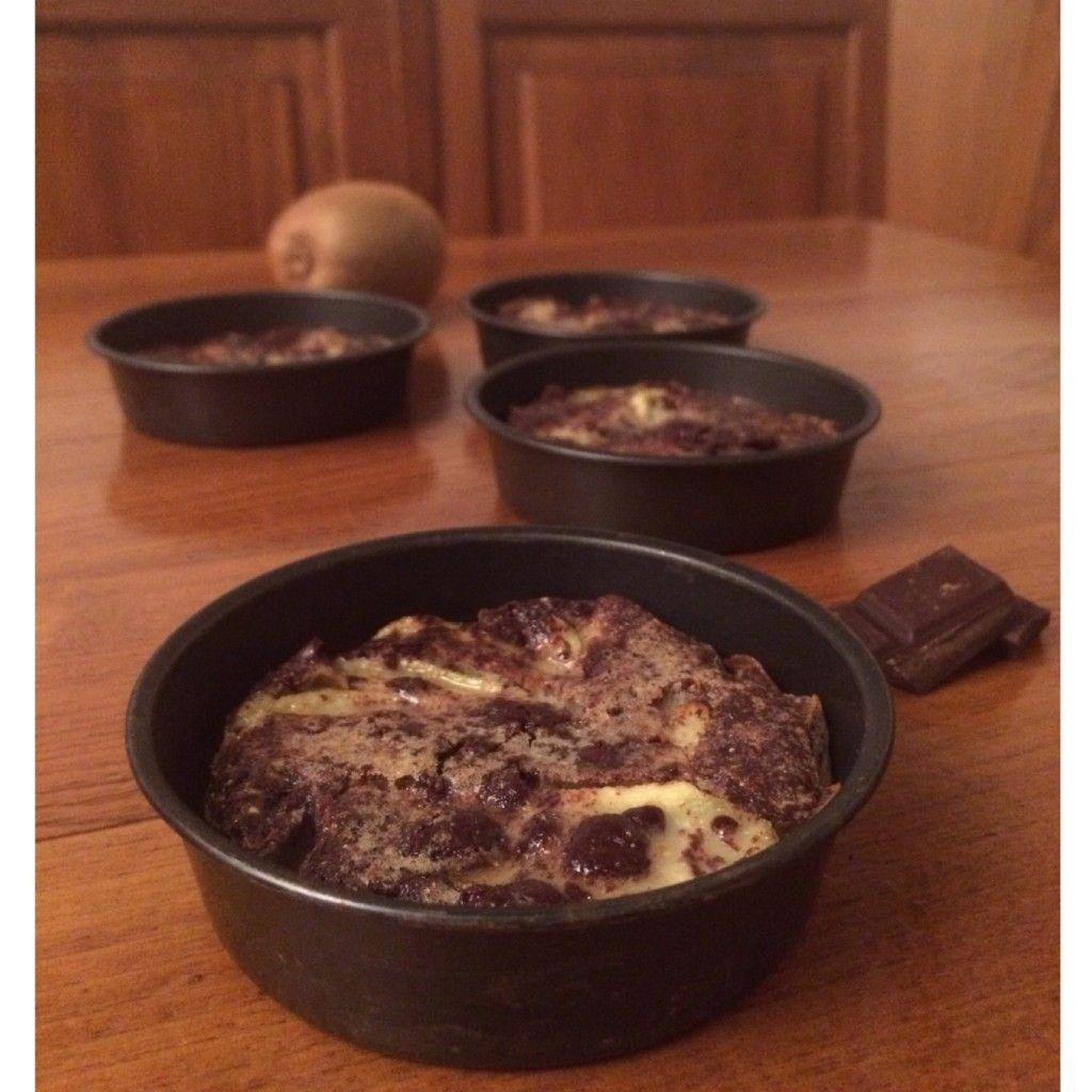 clafoutis kiwi e cioccolato