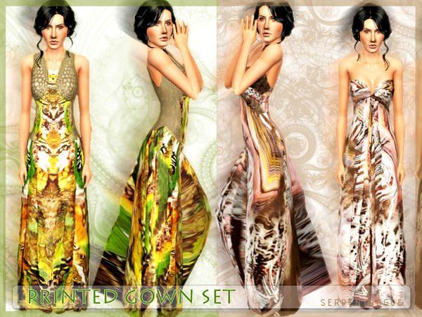 OBJnoora :: Printed Gown