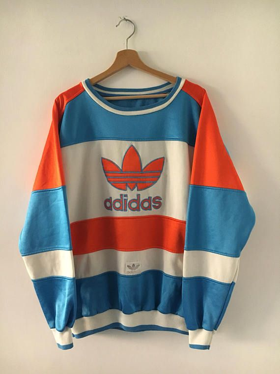 adidas biglogo vintage 90er jahre sweatshirt rundhals seltenes tomboy grunge style. Black Bedroom Furniture Sets. Home Design Ideas