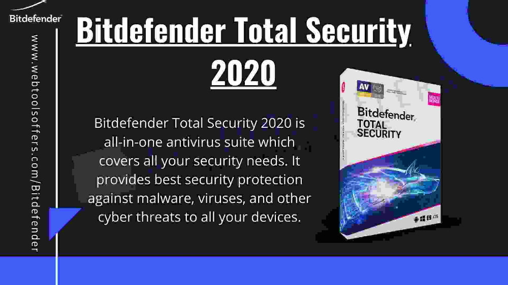 Bitdefender Total Security 2020 provides you with the best