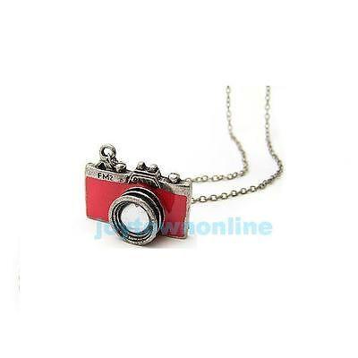 Fashion Lovely Korea Delicate Red Camera Necklace | eBay