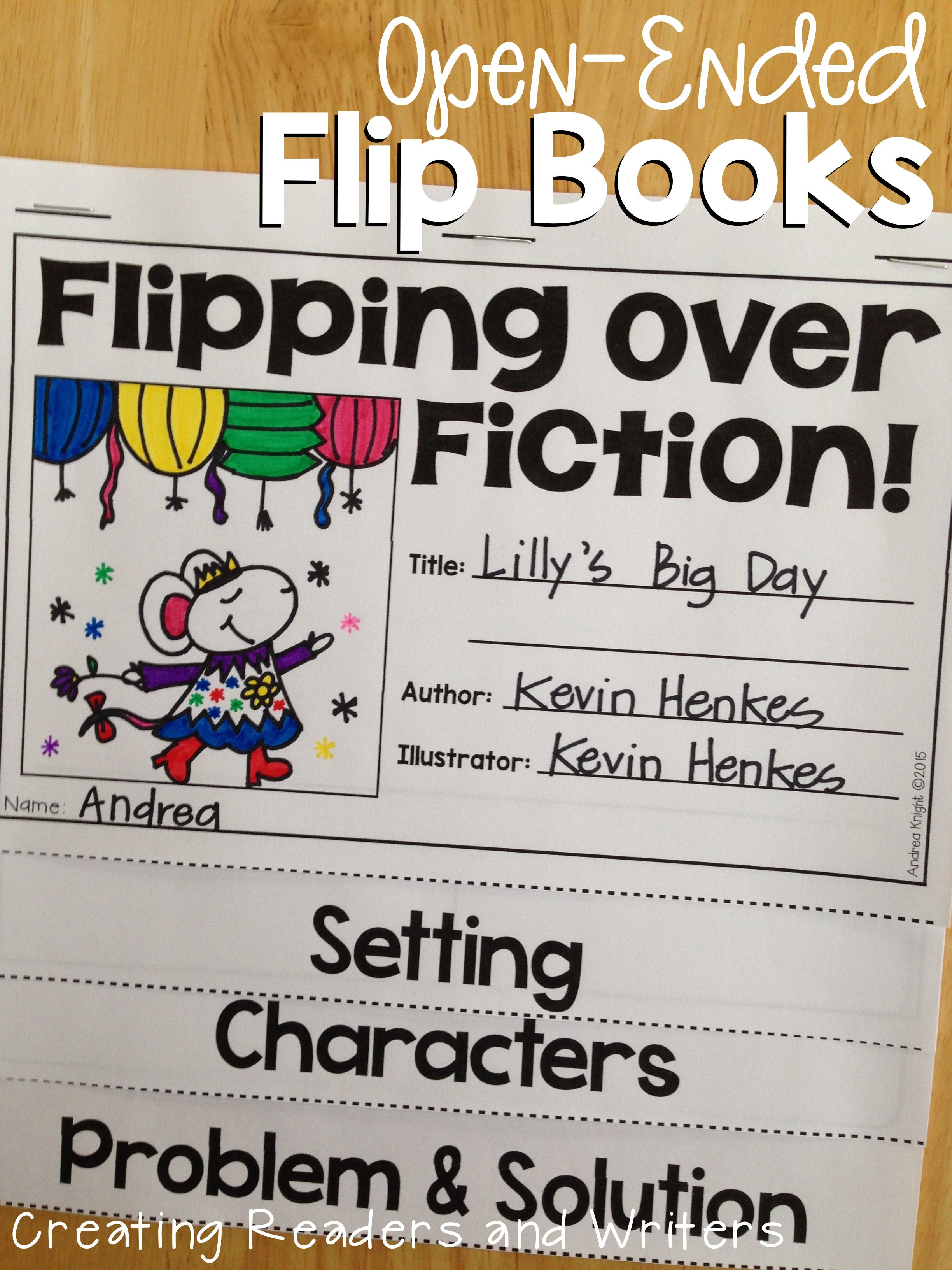 Open Ended Flip Book Templates For Fiction And Nonfiction Texts A Great Way To Differentiate