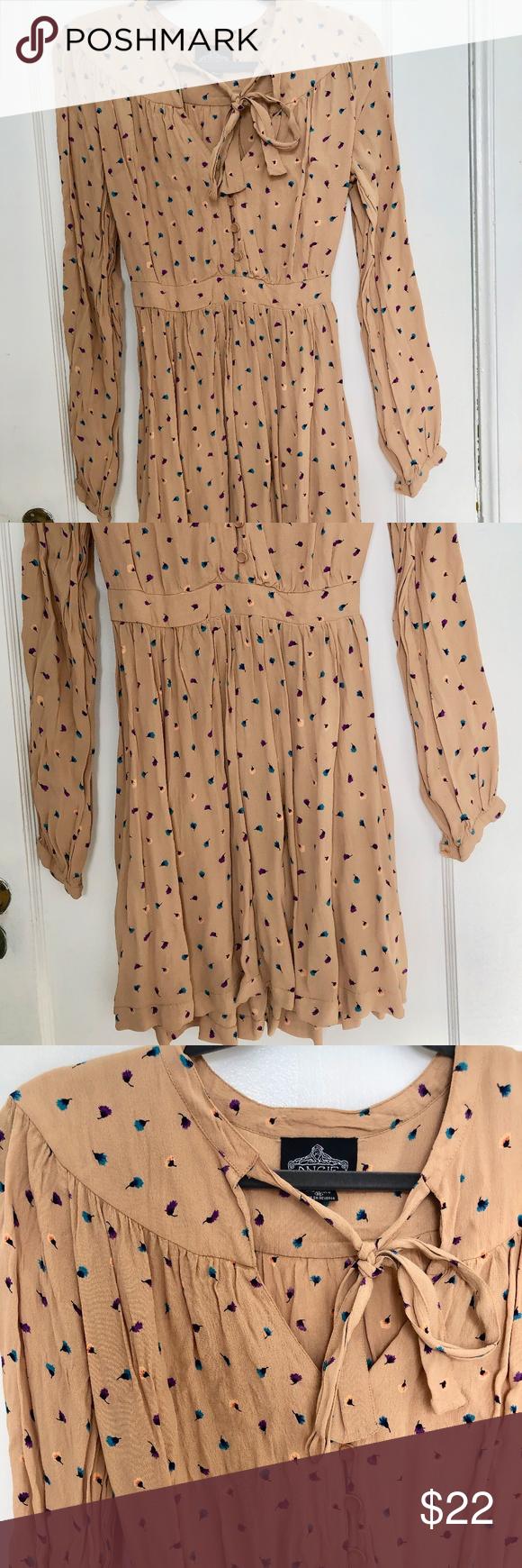 Angie Tie Neck Tan Long Sleeve Elastic Waist Dress Angie Tie Neck Tan Long Sleeve Elastic Waist Dress Vguc Very Elastic Waist Dress Elastic Waist Long Sleeve [ 1740 x 580 Pixel ]