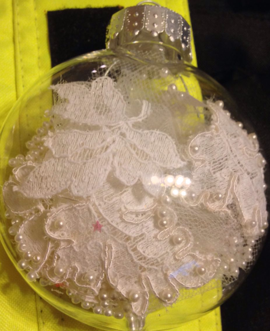 Other side of wedding ornament