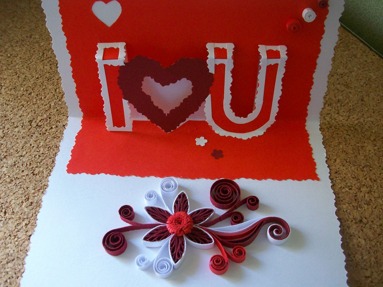 Handmade Quilling 3d Card Valentines Card Handmade Greeting Card