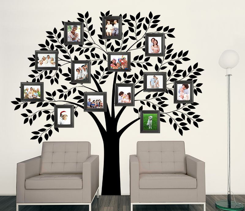 Family Tree Wall Mural For Textured Walls